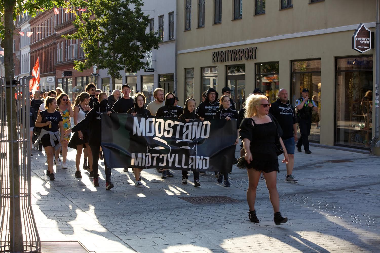 Demonstrationen i Esbjerg - Modstand Midtjylland