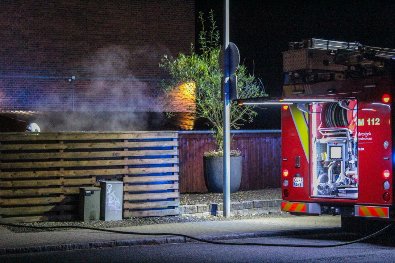Ild i skraldespand i Esbjerg