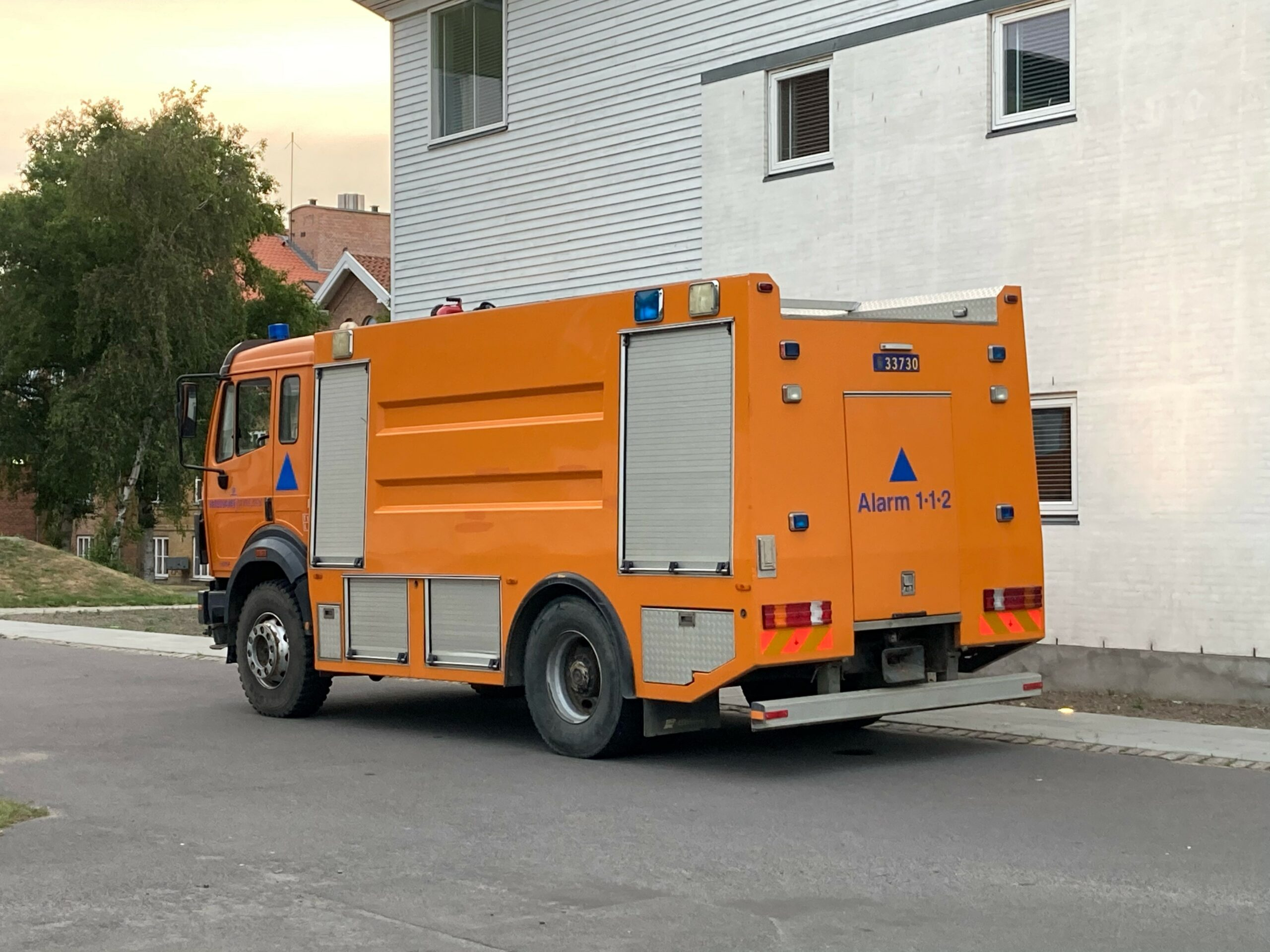 Brandvæsen til stede i Rønne