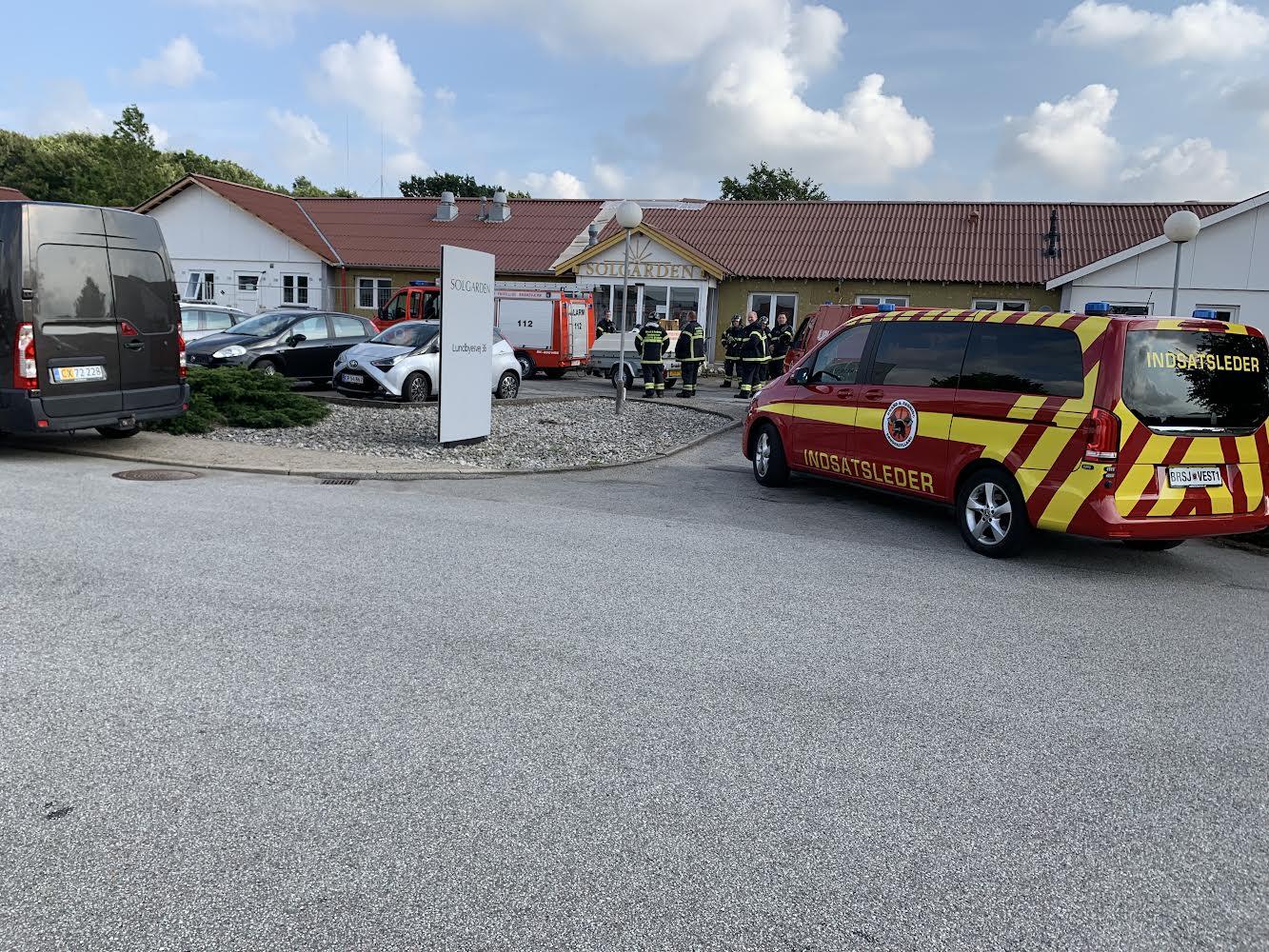 Aktiveret brandalarm på plejecenter i Bedsted