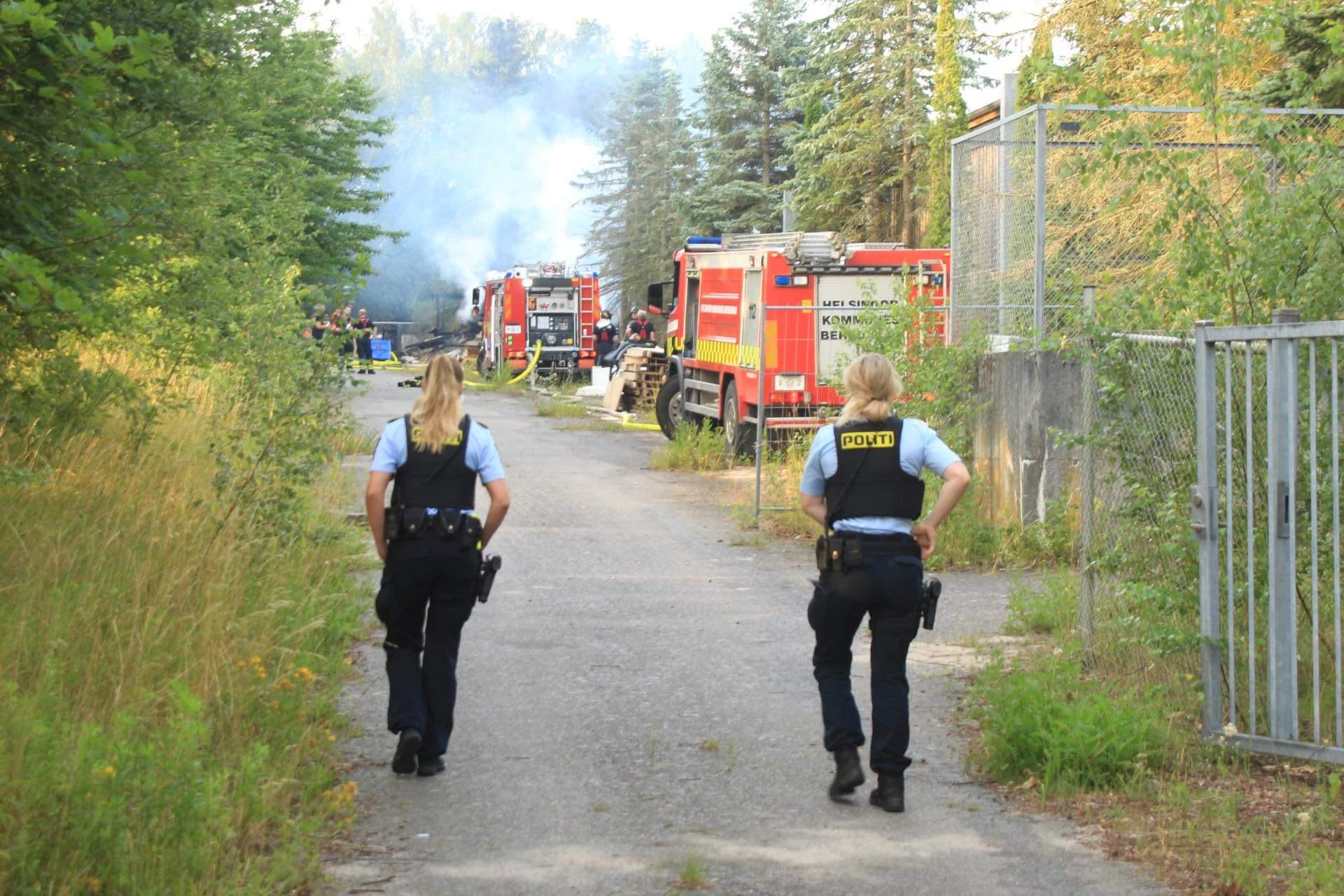 Brand i skur i Helsingør