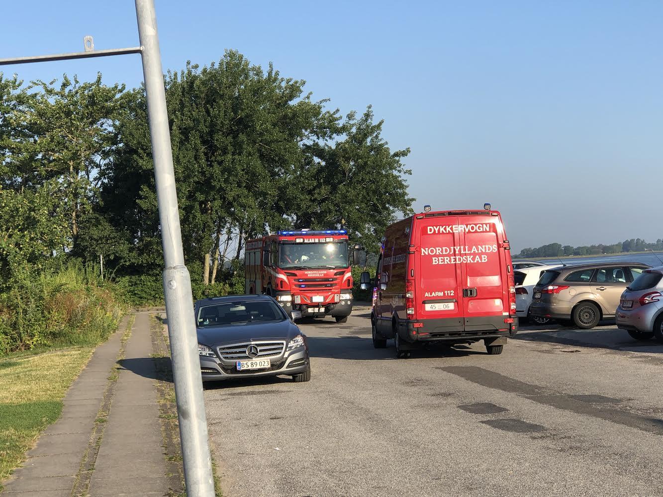 Melding om drukneulykke ved Aalborg