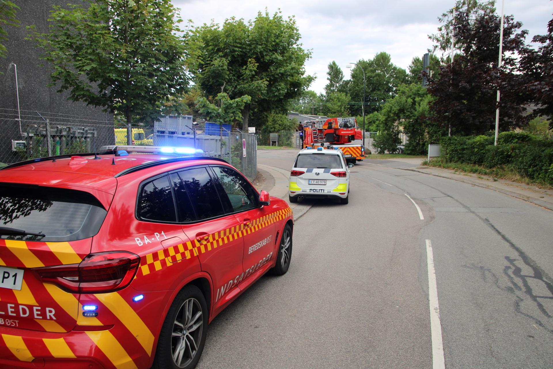 Melding om brand i Magnesium - Politi og redning er på stedet