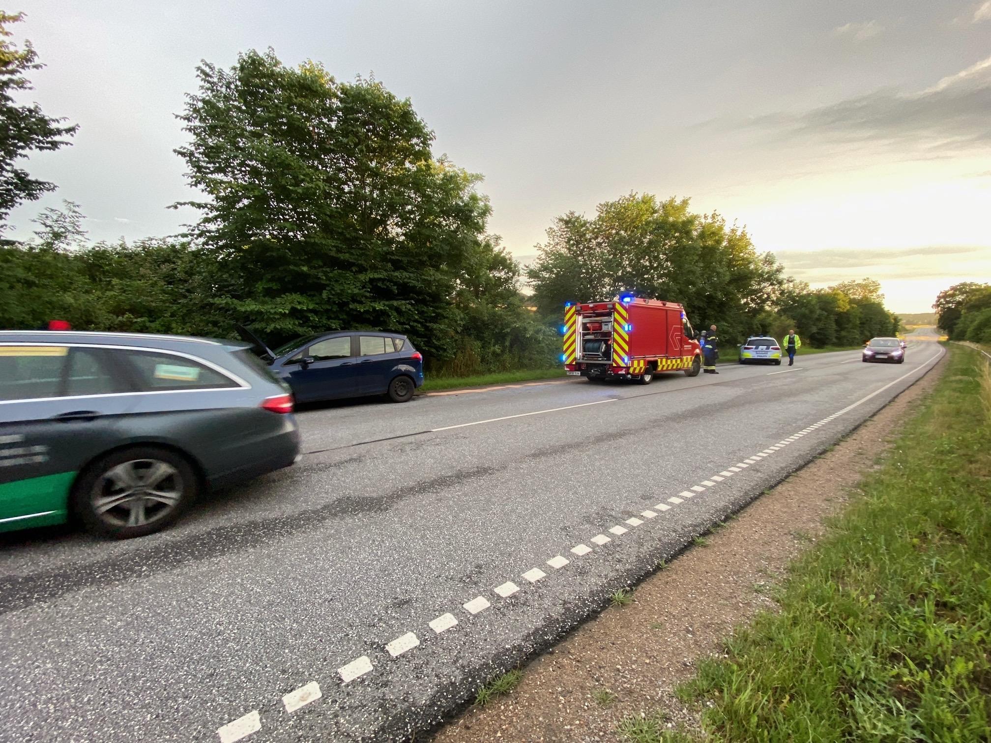 Bilbrand ved Skævinge/ St. lyngby