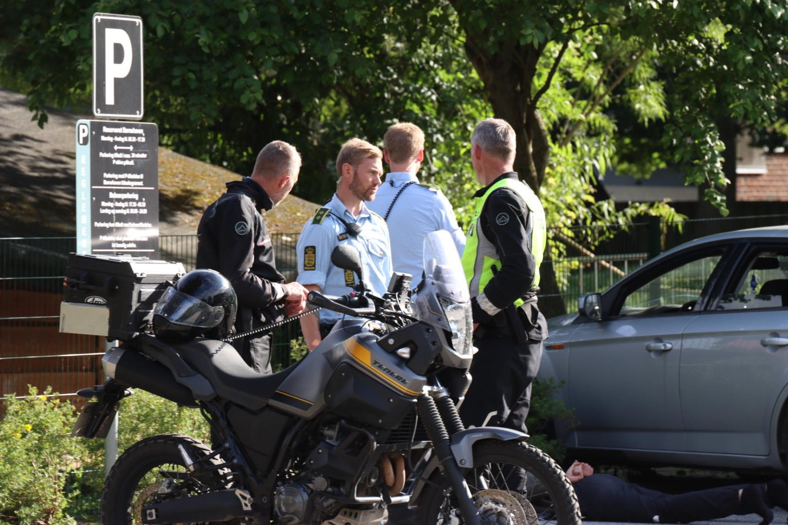 Biljagt i Aabyhøj - To anholdte