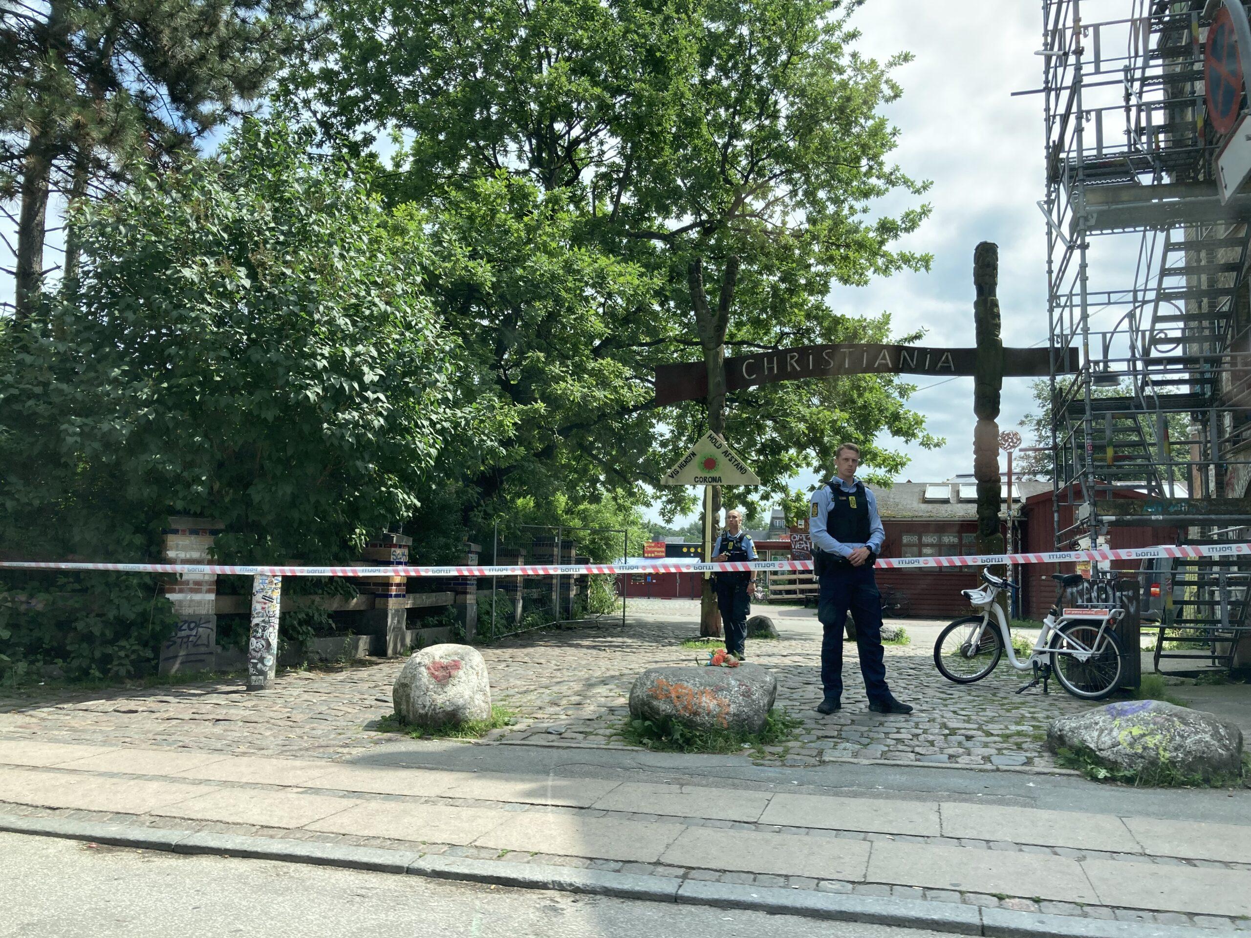 Politiet har afspærret store dele af Christiania