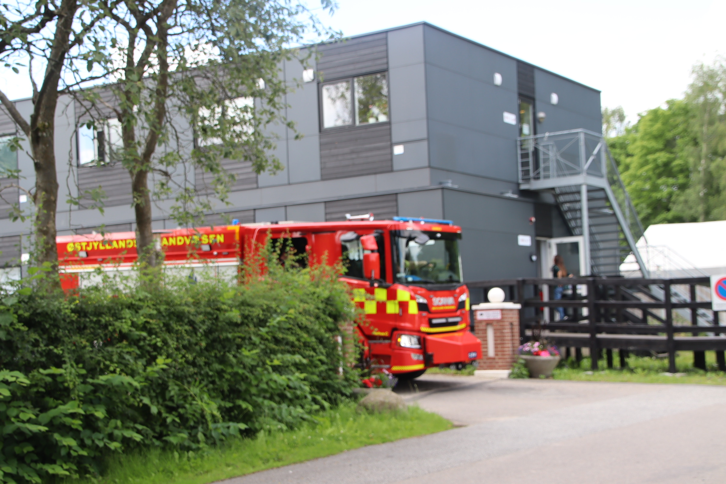 Melding om brand på  bosted i Aarhus