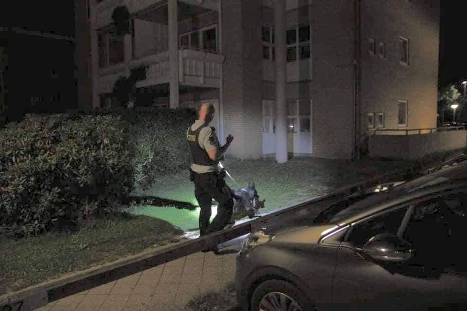 Politiaktion og anholdelse i Husum