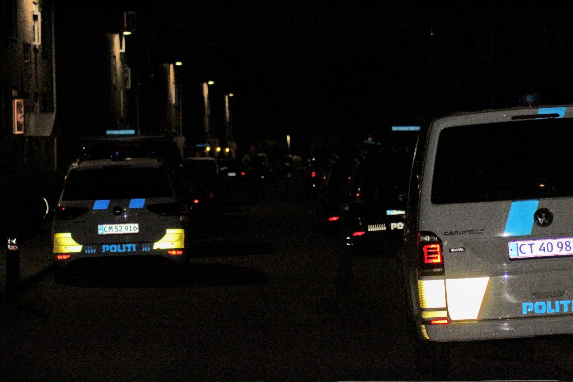 Større politiaktion i Valby