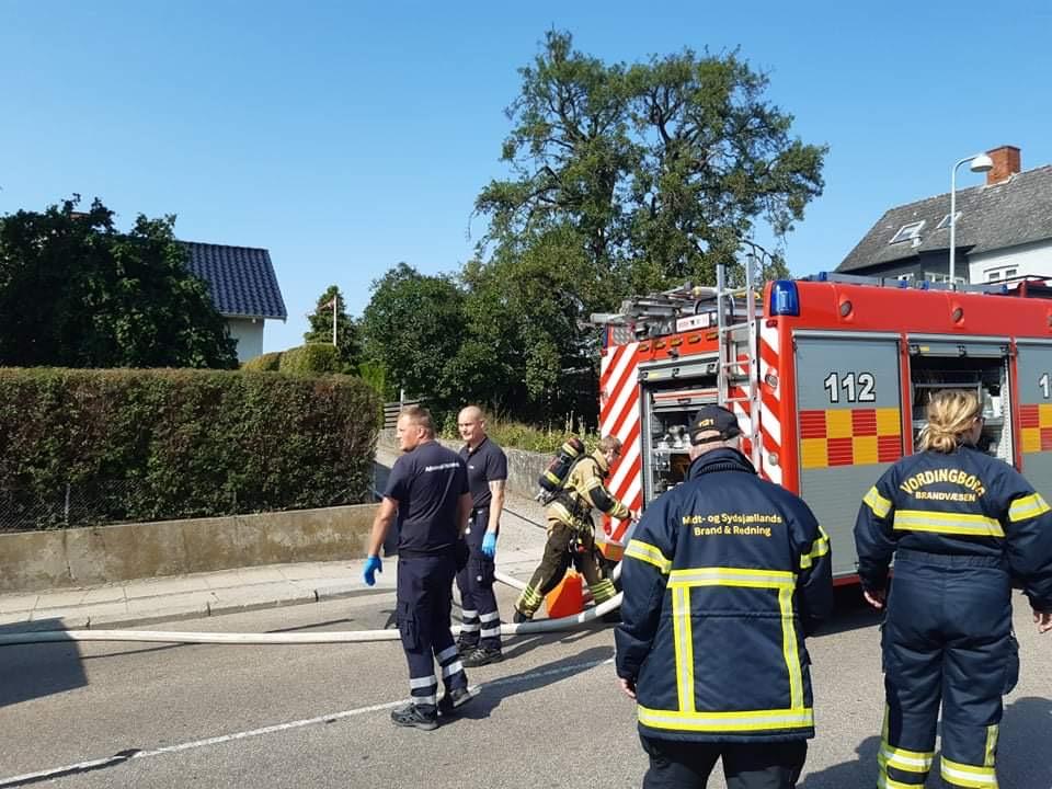Villabrand i Vordingborg - Brandvæsnet er på stedet