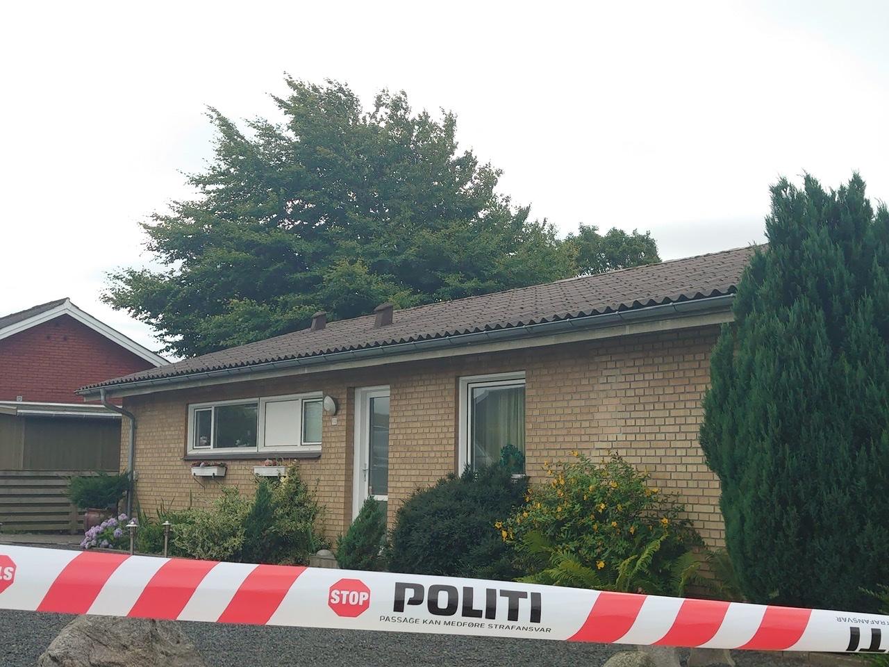 Mistænkeligt dødsfald i Brønderslev - hus afspærret