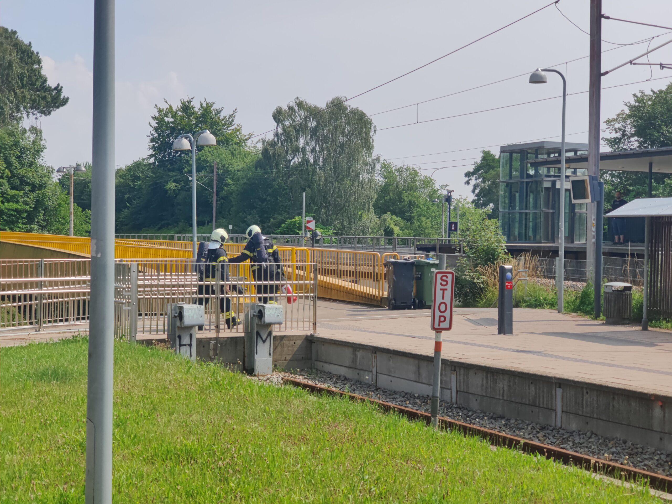 Røg observeret ved S-tog station