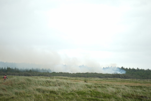 Større naturbrand i Klitmøller - Brandvæsnet kæmper med slukningen