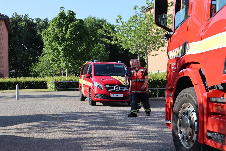 Mindre redningsaktion i Esbjerg - Barn fastklemt