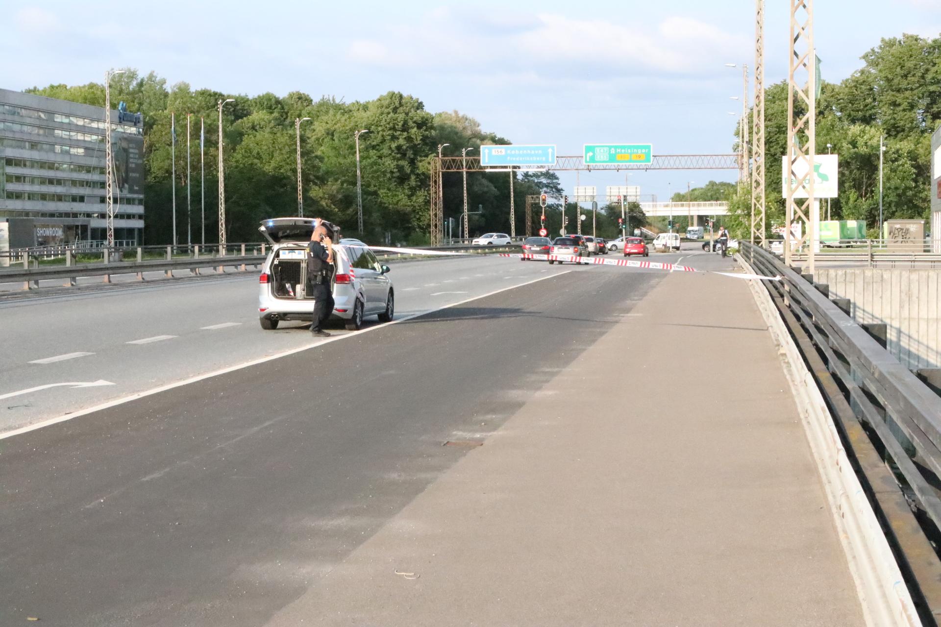 Stenkast lukker motorvej