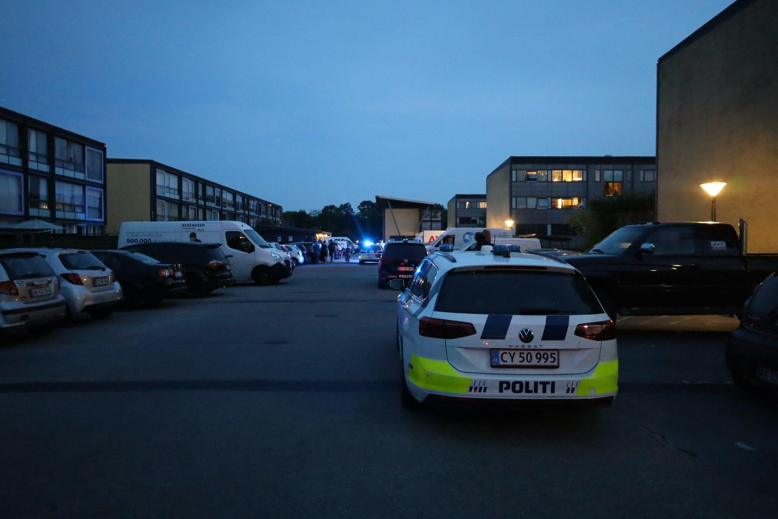 Politi talstærkt til stede i Kolding