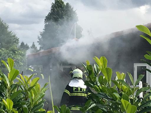 Brand i kolonihave i Odense SV