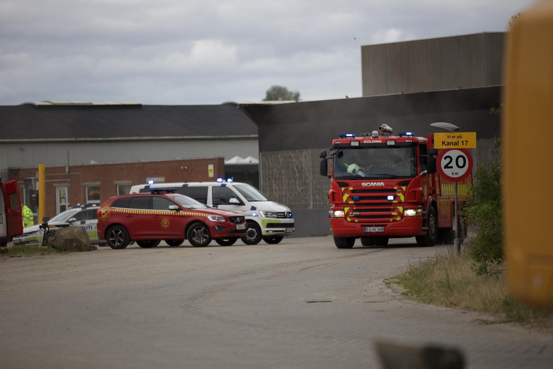 Voldsom brand i industribygning