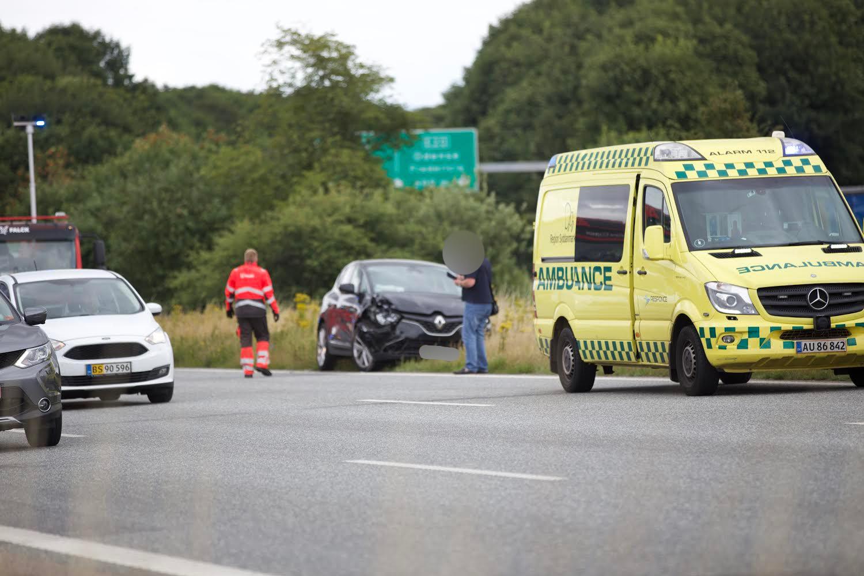 Mindre færdselsuheld på motorvej - skaber større kø