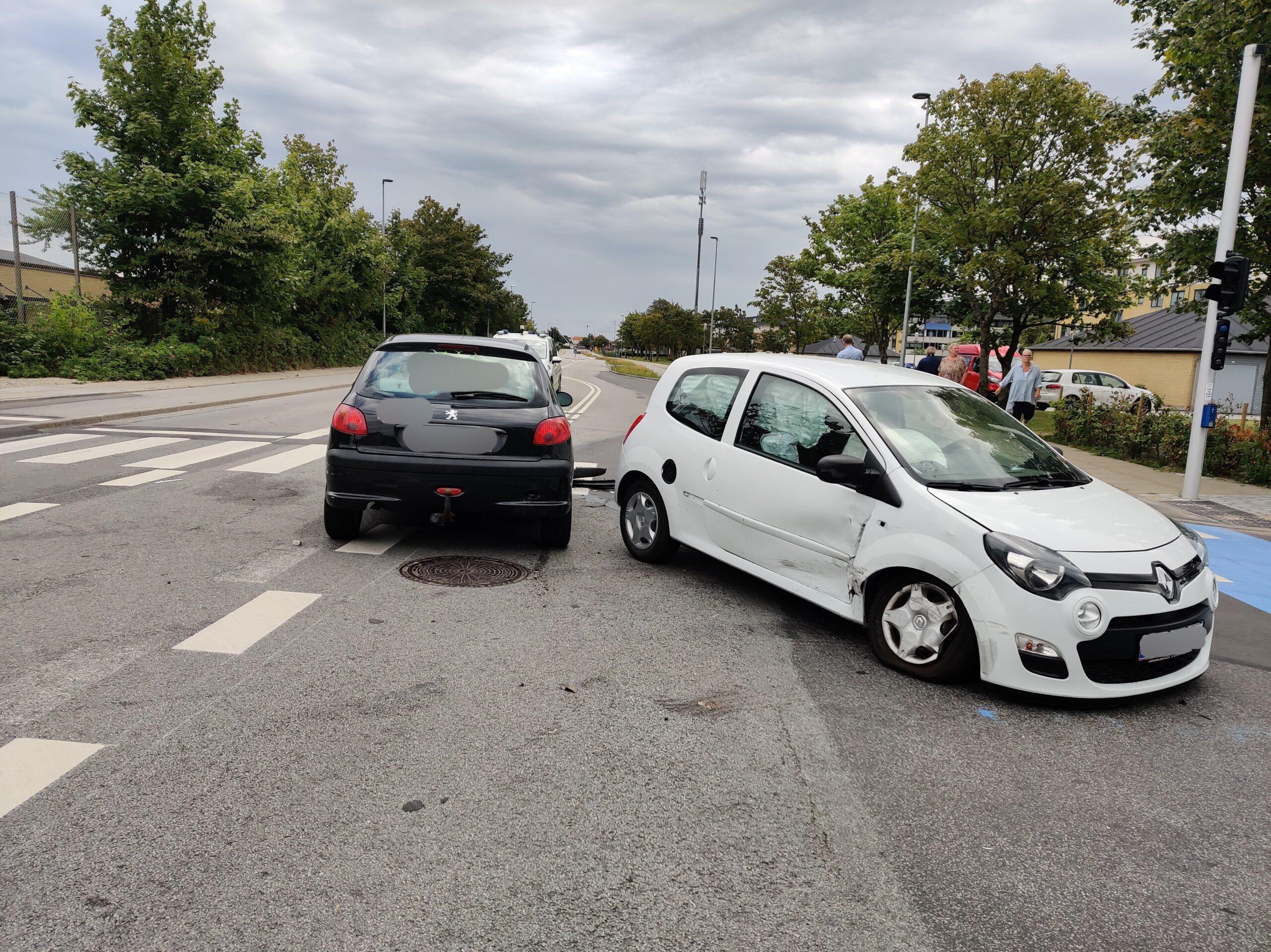 To biler kørt sammen i Frederikshavn