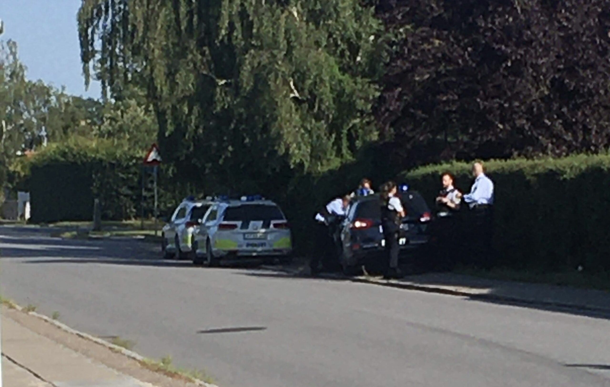 Politiaktion i Veksø