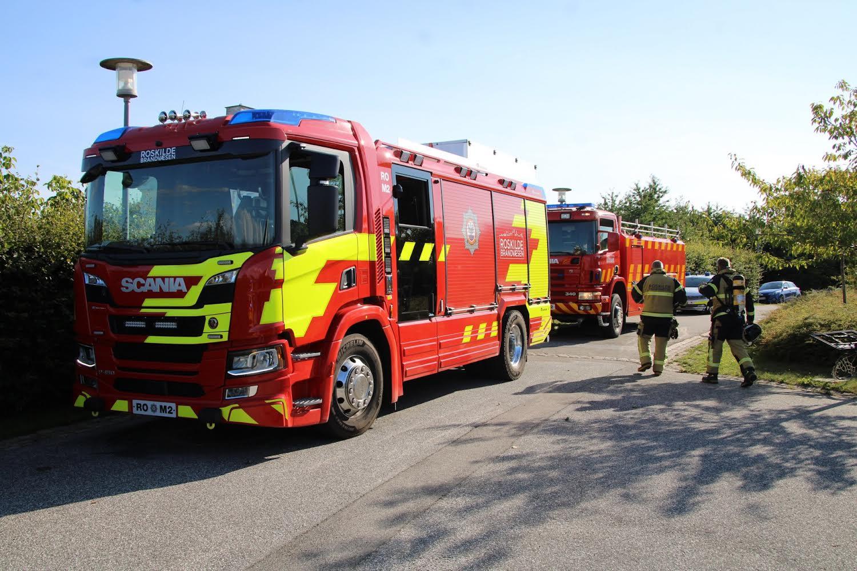 Mindre bygningsbrand ved Roskilde