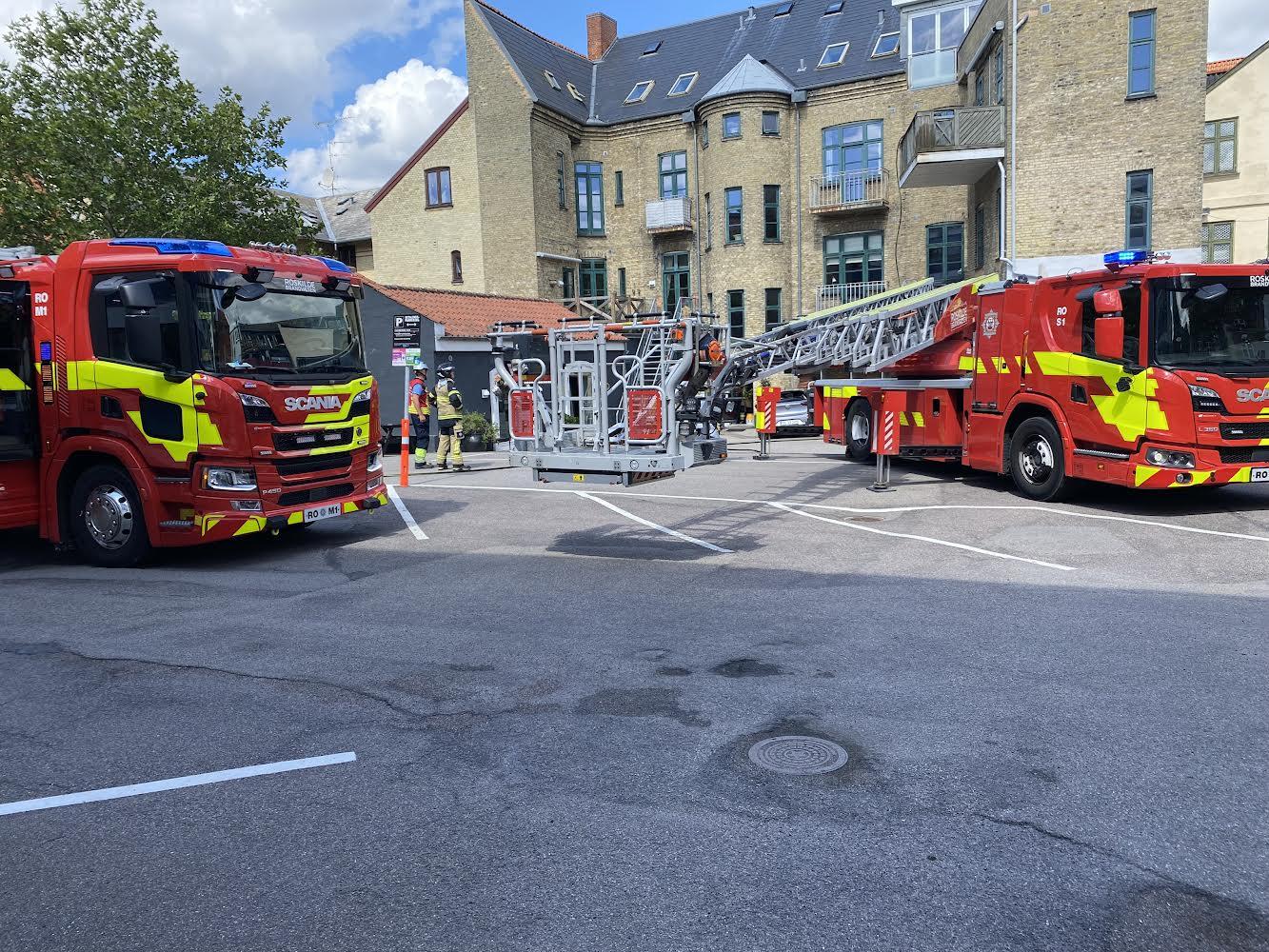 Brand i altan i Roskilde