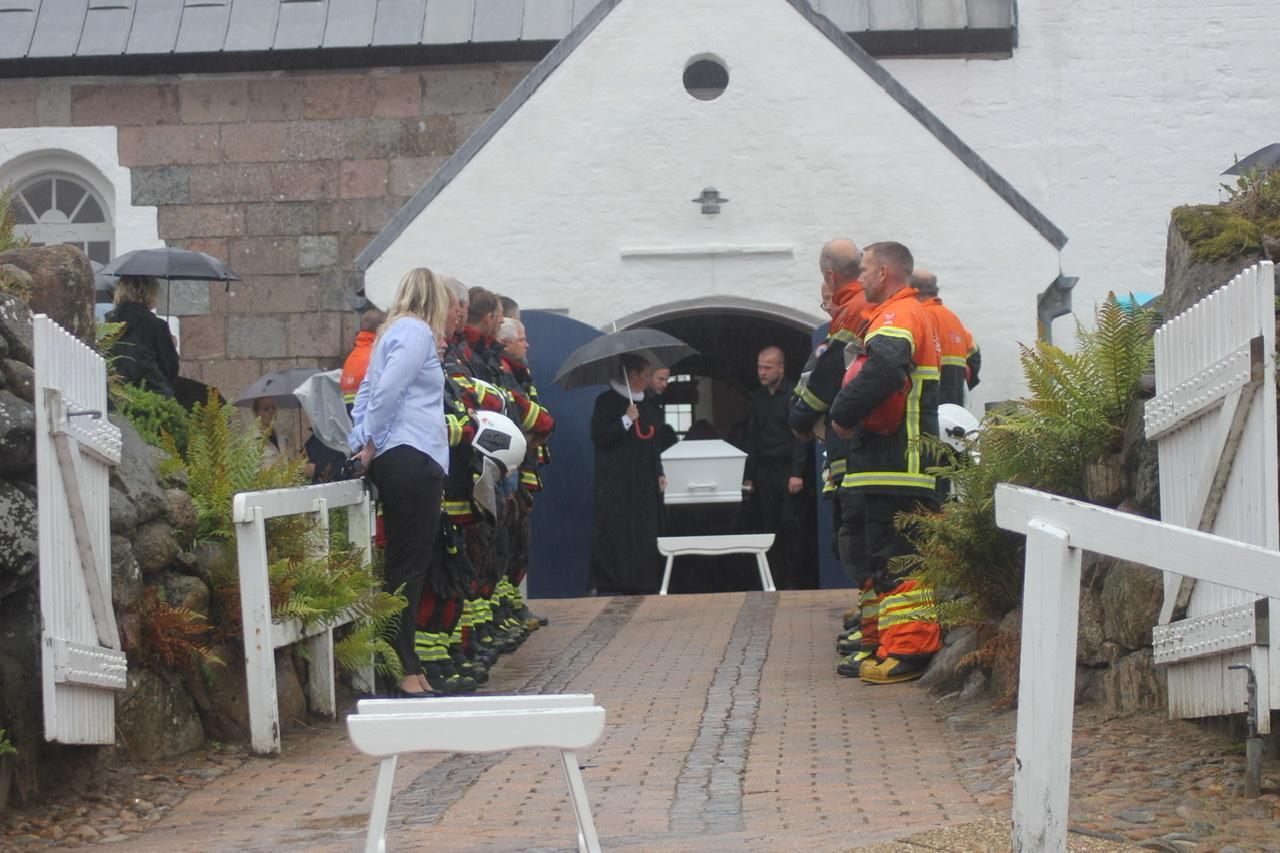 Omkommet brandmand begravet fra Tornby  kirke