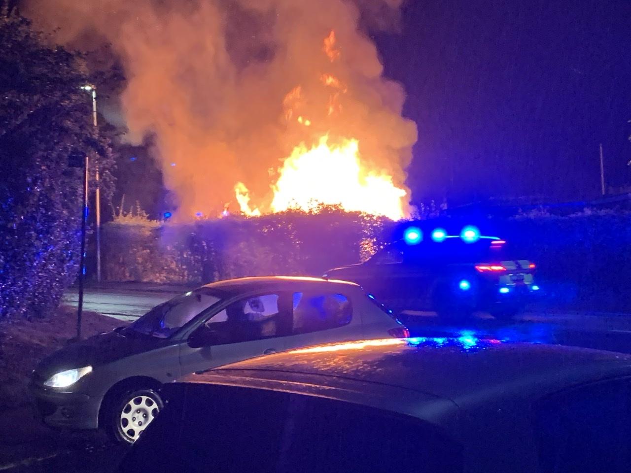 Kraftig brand i Slagelse natten til tirsdag