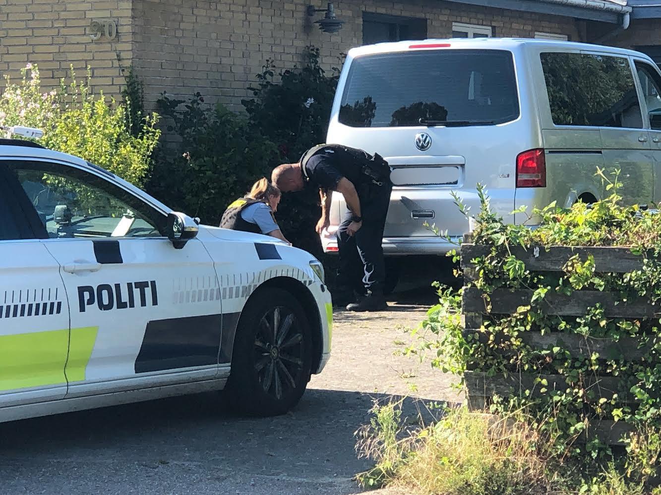Politiaktion i Gilleleje
