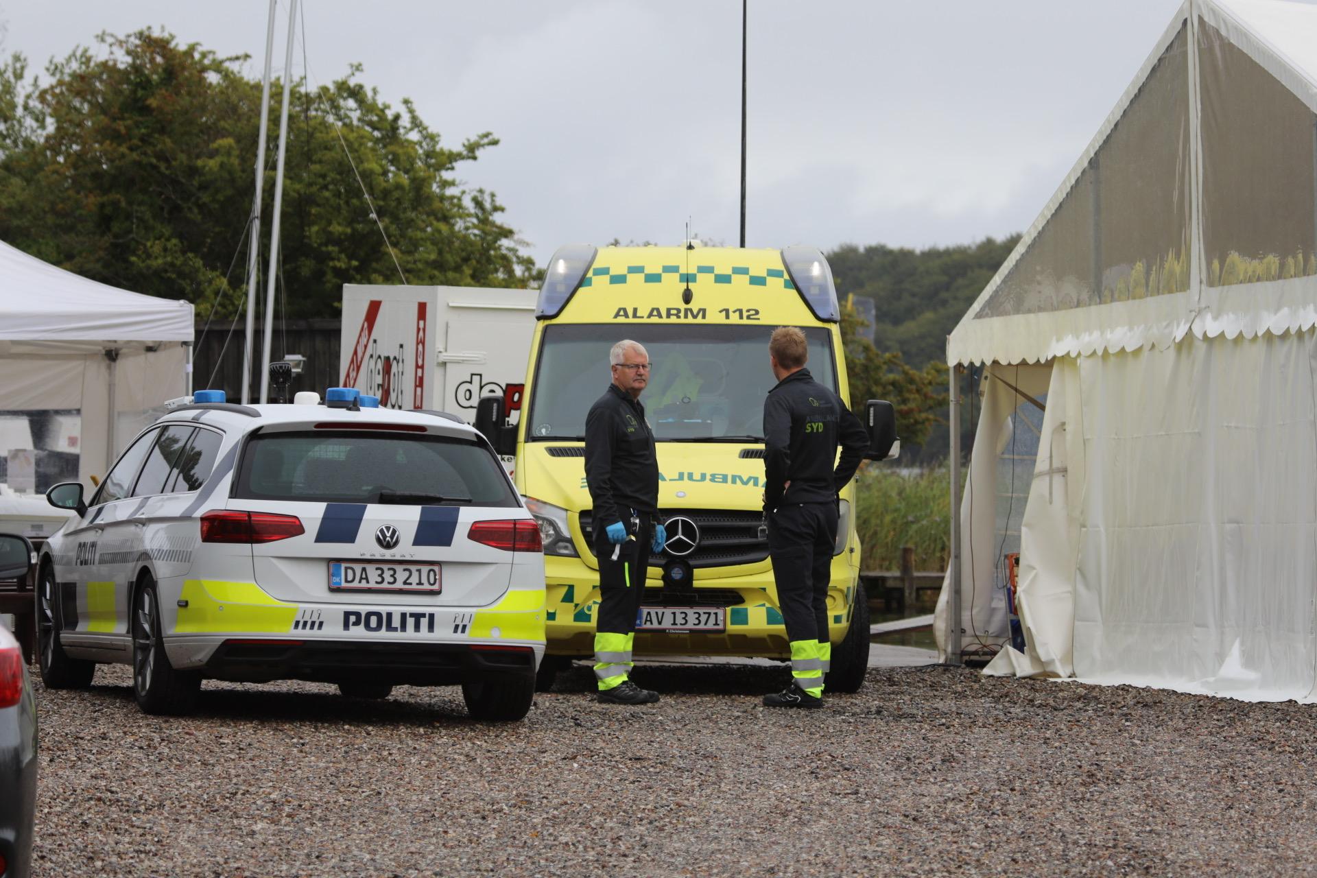 Melding om drukneulykke i Svendborg