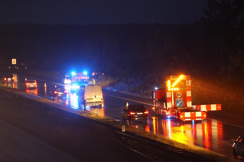Flere biler impliceret i uheld på motorvej