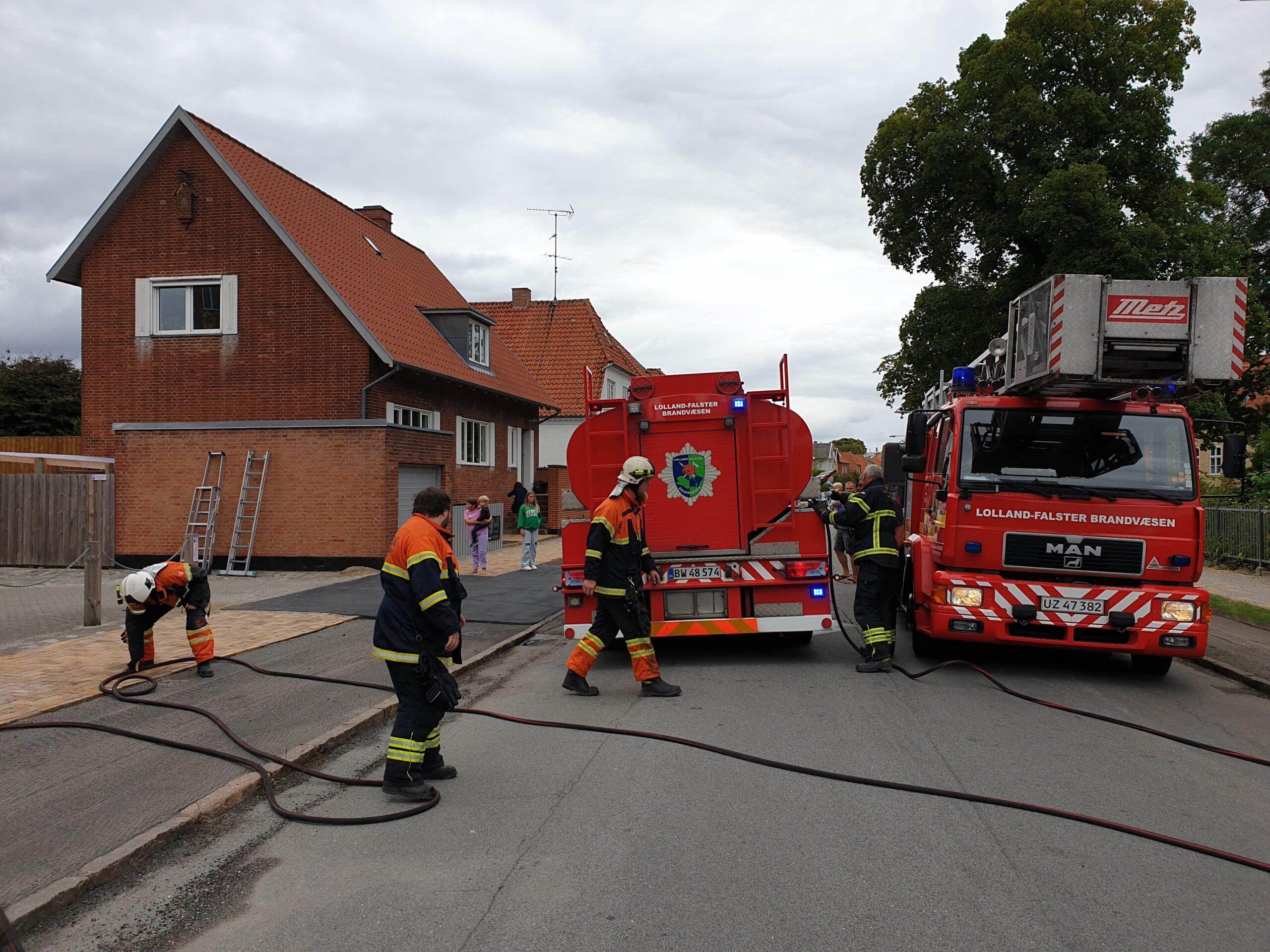 Brand i værksted i Nykøbing Falster