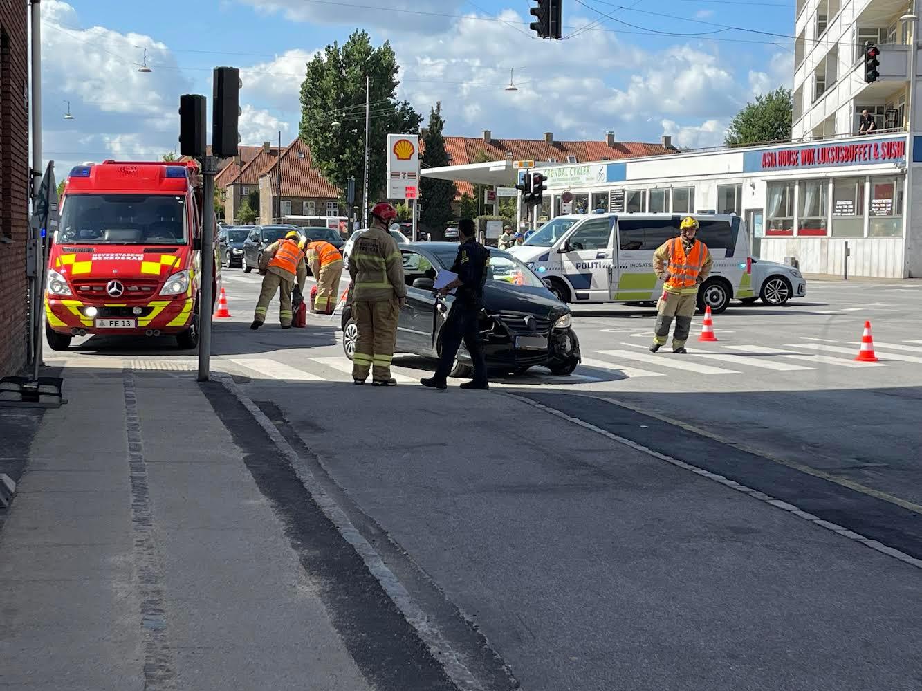 Voldsomt færdselsuheld i København - flere implicerede