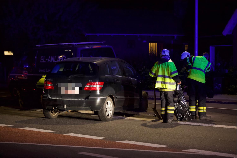 Bil har påkørt parkeret bil i Tårnby