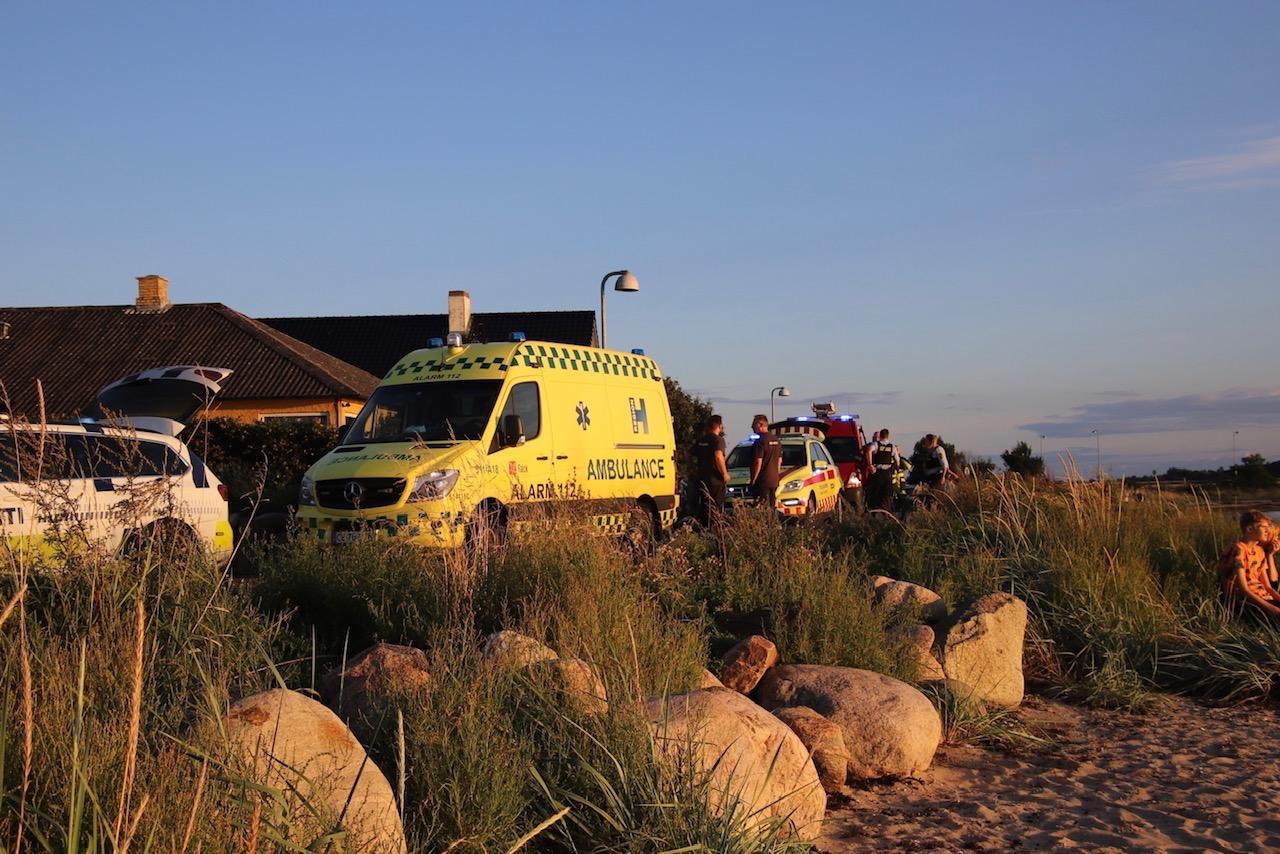 Redningsaktion i Frederikssund - ild i båd