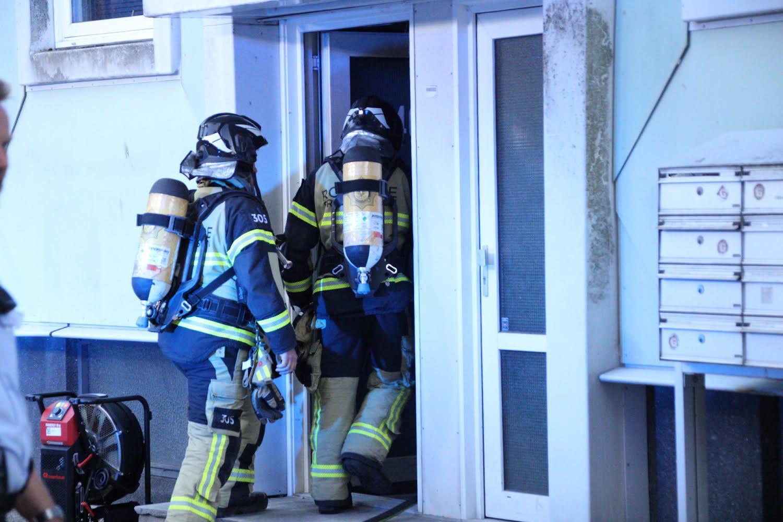 Lejlighedsbrand i Roskilde - flere ambulancer er på stedet