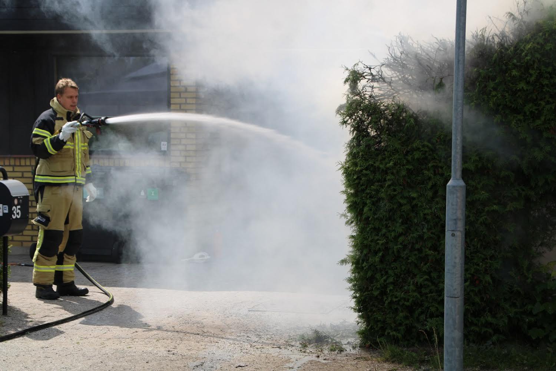 Brand startet af ukrudtsbrænder - Roskilde