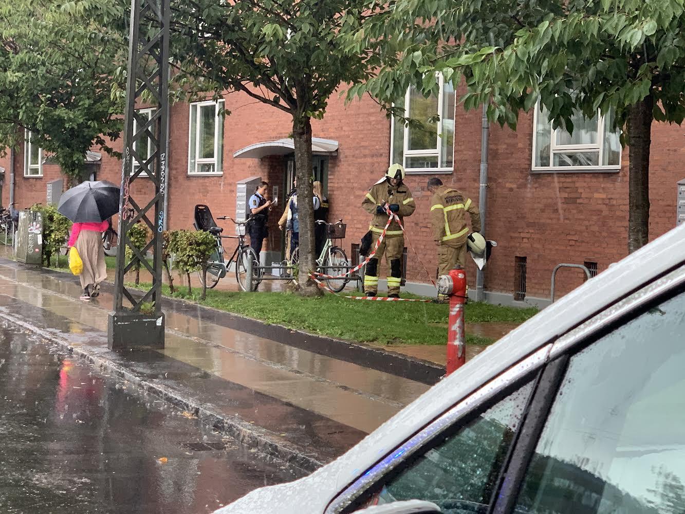 Melding om brand i lejlighed i København