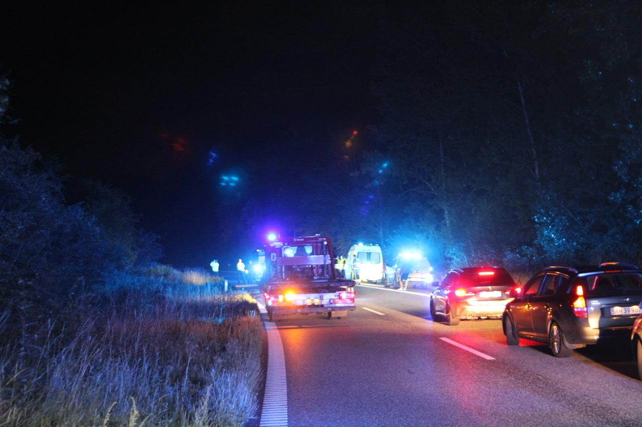 Uheld spærrer motorring 4 - flere tilskadekomne