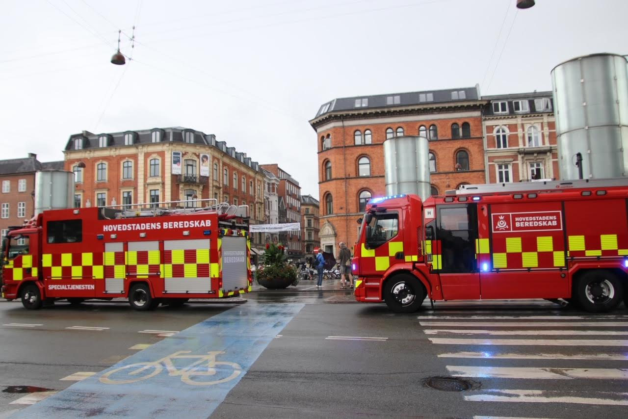 Person ramt af tog - København