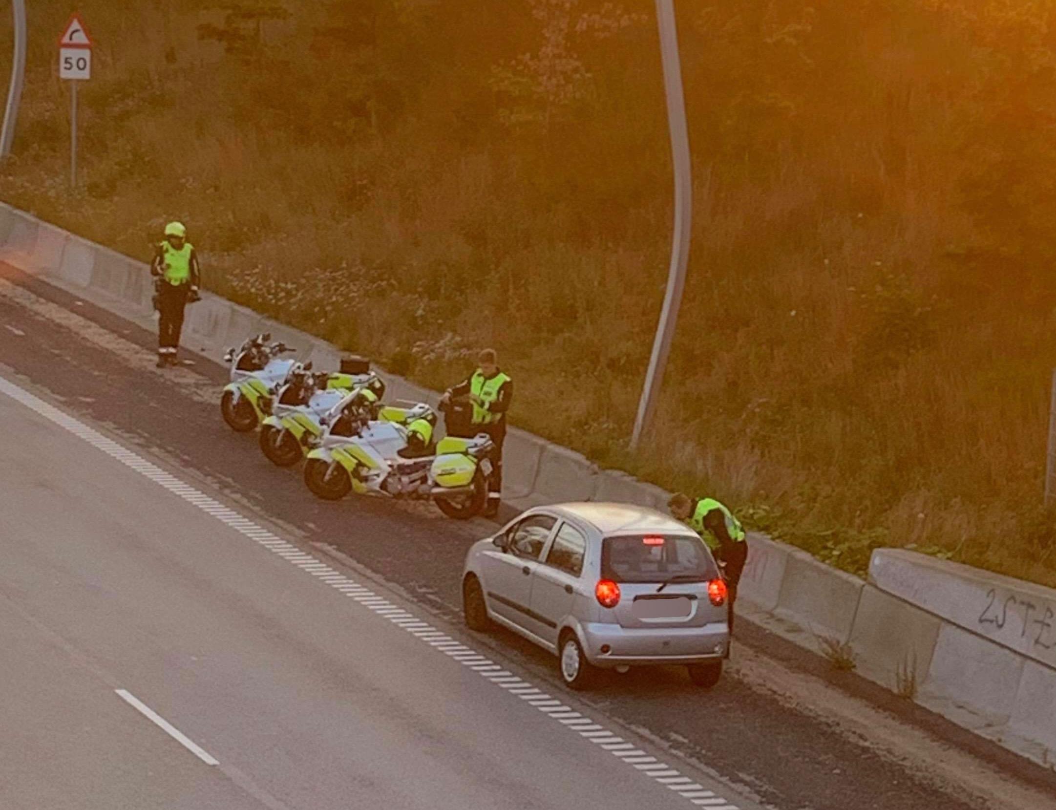 Trafikkontrol på Helsingørmotorvejen