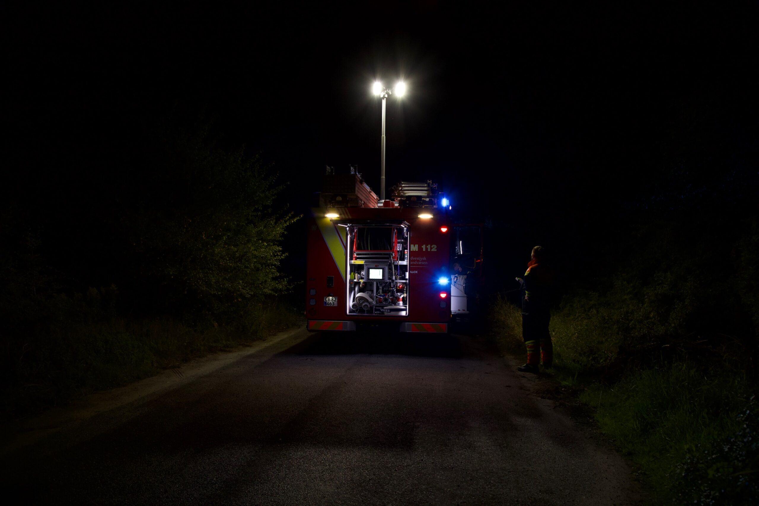 Mindre naturbrand ved Esbjerg