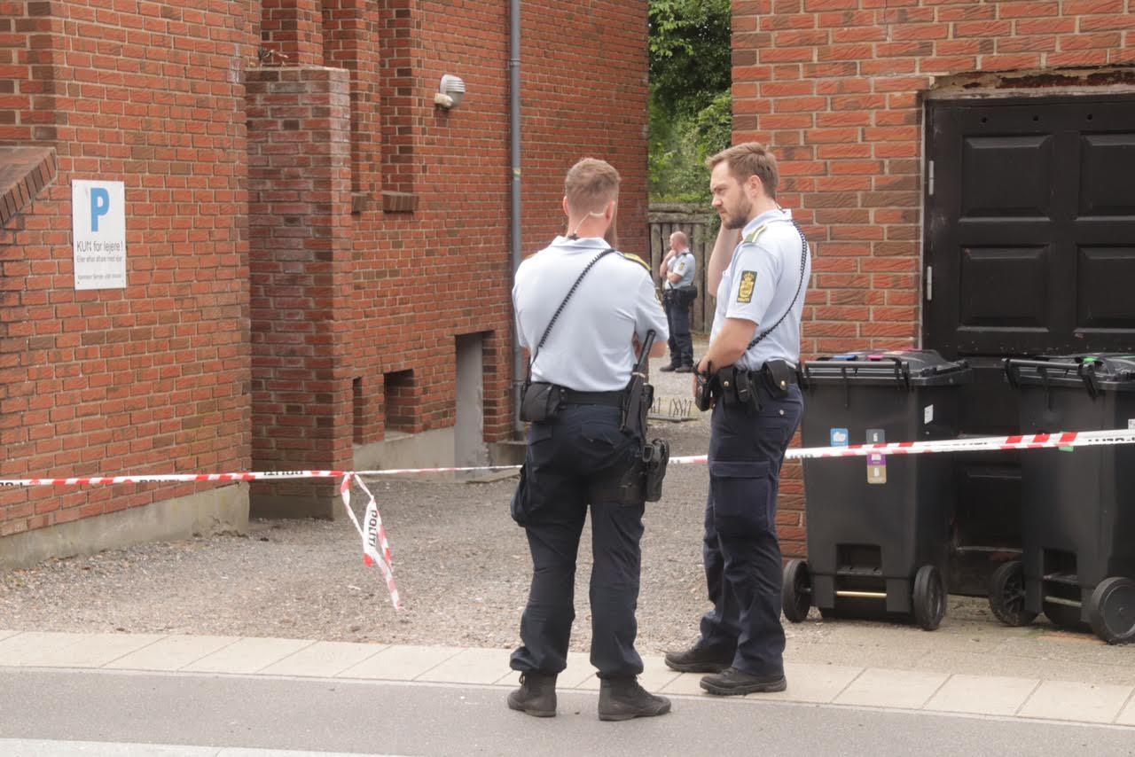 Stor politiaktion i Herning - dør sparket ind