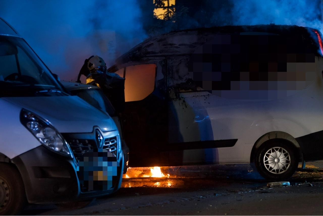 Påsat brand i varevogn i København