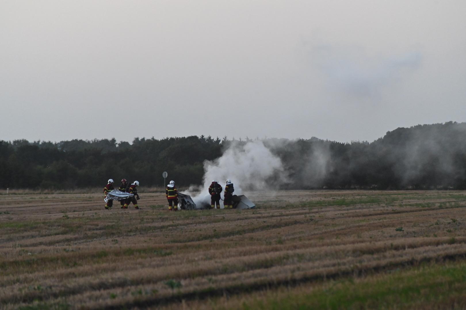 Mindre fly styrtet ned i Sønderjylland