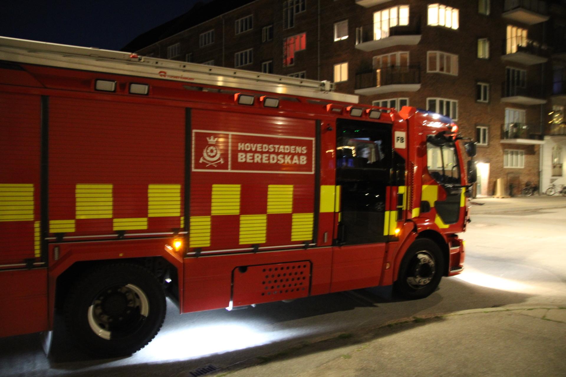 Melding om brand i København - kraftig røg lugt