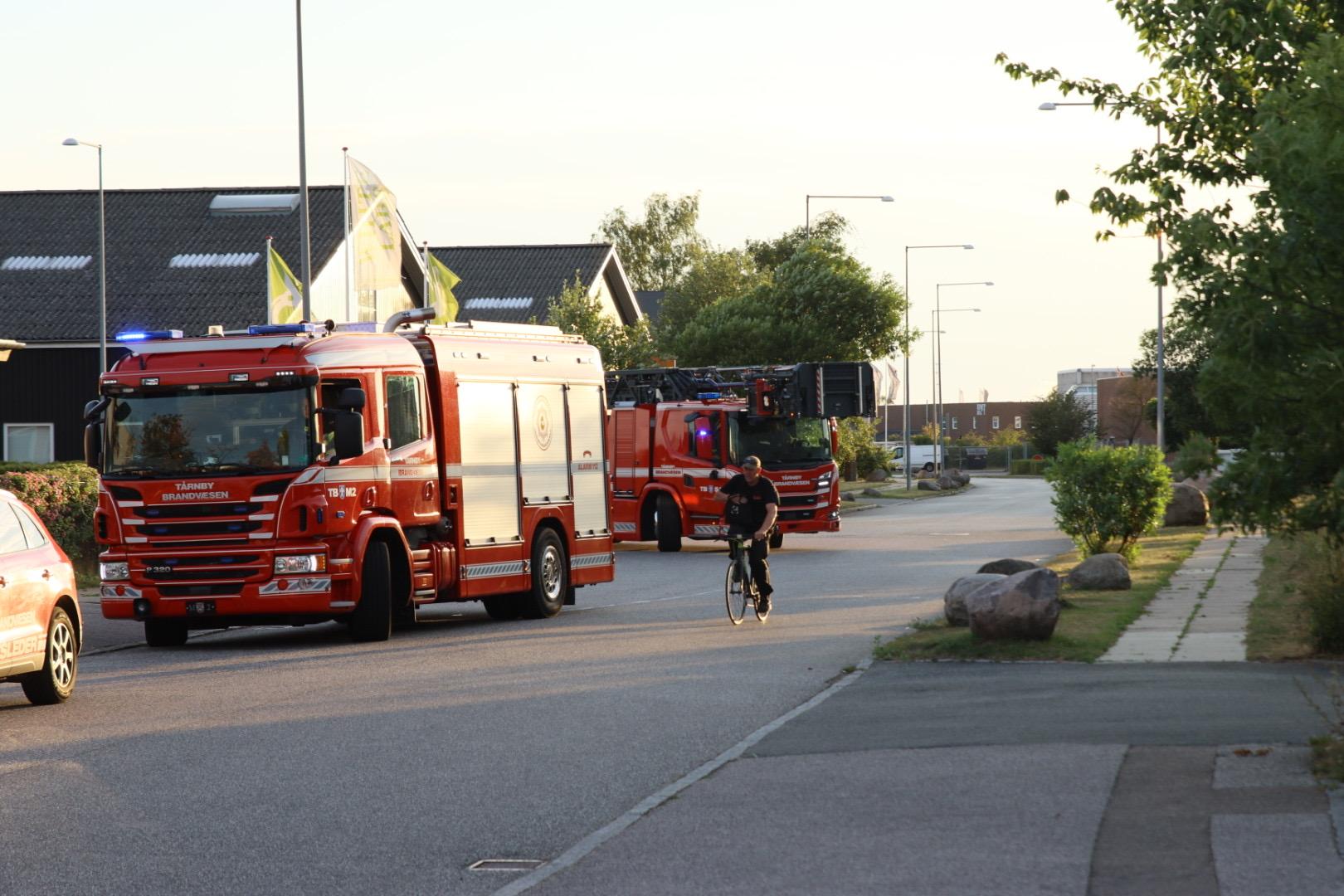 Melding om brand i bygning - Tårnby