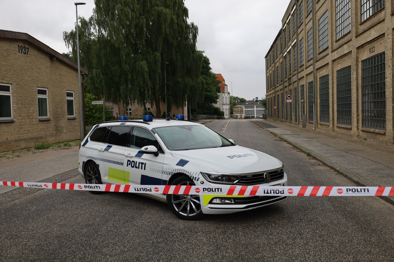 Knivstikkeri i Haderslev - stort område afspærret