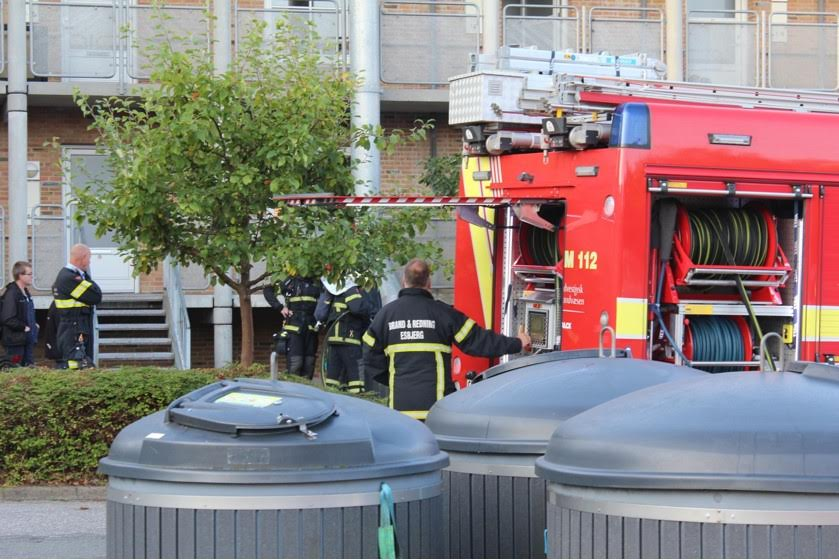 Brand i container i Esbjerg